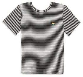 Spiritual Gangster Toddler's. Little Girl's& Girl's Stripe Short Sleeve Tee