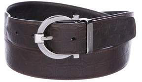 Salvatore Ferragamo Gancio Leather Belt