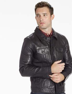 Lucky Brand Mulholland Leather Trucker Jacket
