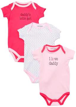 Luvable Friends Pink 'I Love Daddy' Bodysuit Set - Newborn & Infant