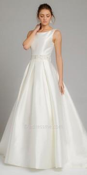 Camille La Vie Mikado Box Pleat Wedding Dress