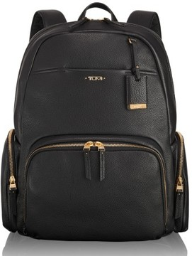Tumi Calais Leather Computer Backpack - Black