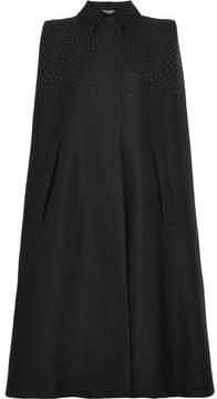 Bottega Veneta Studded Cotton, Wool And Silk-blend Twill Cape - Black