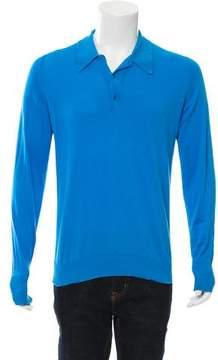 John Smedley Button-Up Polo Shirt