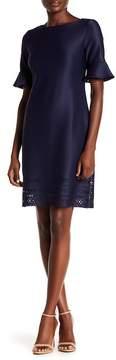 Donna Ricco Scalloped Laser-Cut Hem Dress