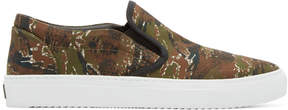 Marcelo Burlon County of Milan Green Camo Pilar Slip-On Sneakers