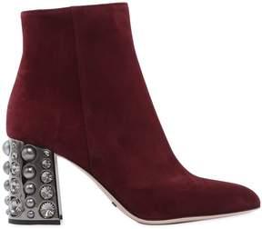 Sebastian 75mm Embellished Suede Ankle Boots
