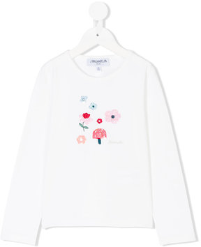 Simonetta embroidered applique T-shirt