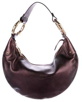 Gucci Small Bamboo Ring Hobo - BROWN - STYLE