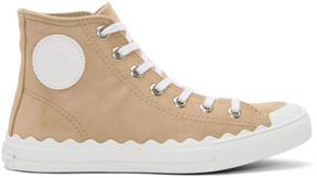 Chloé Beige Kyle High-Top Sneakers