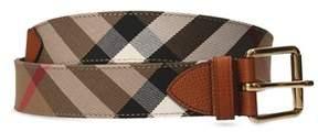 Burberry Men's Beige Leather Belt.