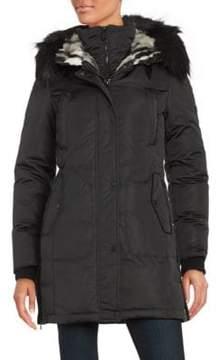 1 Madison Faux Fur-Trimmed Down Coat