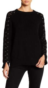 Blvd Ring Detailed Sleeves Sweater