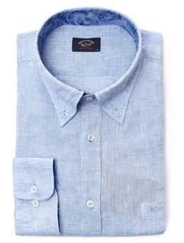 Paul & Shark Men's Light Blue Linen Shirt.