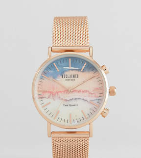 Reclaimed Vintage Inspired Mountain Mesh Watch In Rose Gold 36mm Exclusive to ASOS