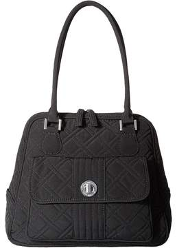 Vera Bradley Turn Lock Satchel Satchel Handbags - BLACK - STYLE
