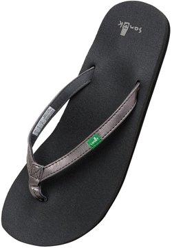 Sanuk Women's Yoga Joy Metallic Flip Flop 8115986