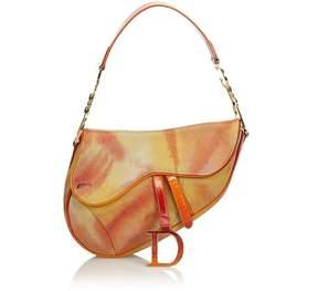 Vintage Dior Tie Dye Embossed Suede Saddle Bag