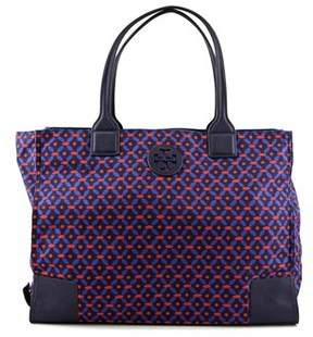 Tory Burch Ella Printed Packable Tote Women Blue Tote. - BLUE - STYLE