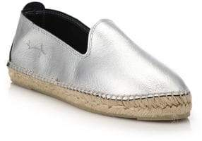 Manebi Los Angeles Metallic Leather Espadrille Flats