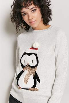 Forever 21 Penguin Graphic Sequin Sweater