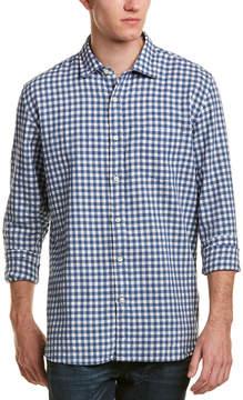 Jachs Linen-Blend Classic Fit Woven Shirt