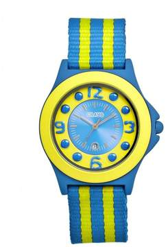Crayo Carnival Cerulean and Yellow Dial Cerulean Stainless Steel Ladies Watch