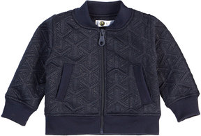 Petit Lem Girl's Quilted Metallic Knit Jacket, Blue, Size 2-6x