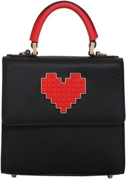 Mini Alex Lolita Heart Lego Leather Bag