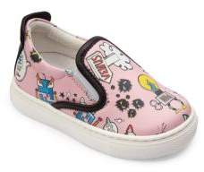Fendi Toddler's Space-Print Leather Skate Sneakers