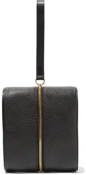 Building Block - Doppler Medium Textured-leather Clutch - Black