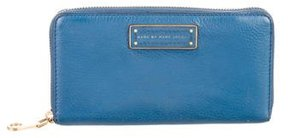 Marc by Marc Jacobs Leather Continental Wallet - BLUE - STYLE