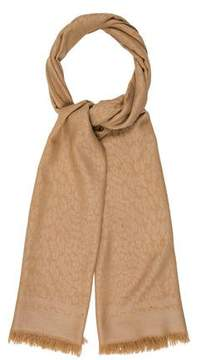 Tory Burch Animal Print Wool Scarf