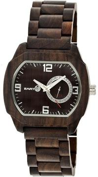 Earth Scaly Collection ETHEW2102 Unisex Wood Watch with Wood Bracelet-Style Band