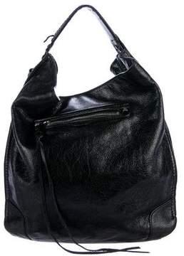 Rebecca Minkoff Leather Regan Hobo - BLACK - STYLE