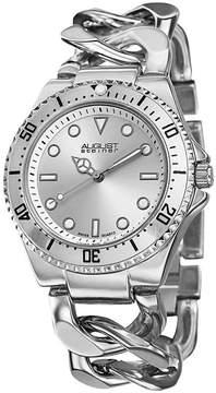 August Steiner Womens Silver Tone Strap Watch-As-8079ss