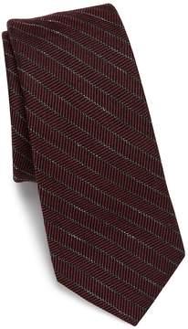 Saks Fifth Avenue Men's MODERN Striped Wool Blend Tie