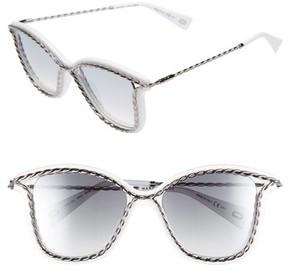 Marc Jacobs Women's 52Mm Cat Eye Sunglasses - White