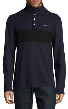 Calvin Klein Contrast Block Band Cotton Sweatshirt