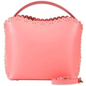 Class Roberto Cavalli Peach Bucket Bag Leolace 007.