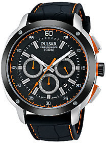 Pulsar Men's Black Dial Strap Watch