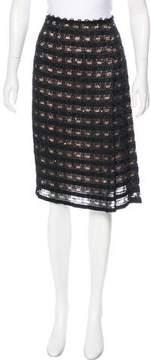 Anna Sui Textured Knee-Length Skirt