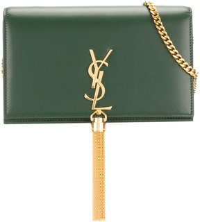 Saint Laurent small Kate tassel satchel - GREEN - STYLE