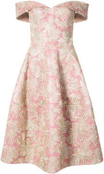 Christian Siriano floral embroidered off-shoulder dress