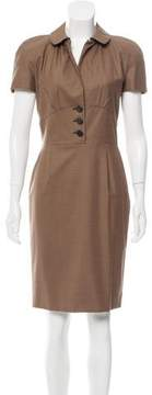 Christian Dior Wool Knee-Length Dress