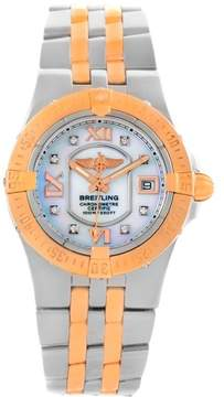 Breitling Galactic C71340 Stainless Steel/18K Rose Gold Diamond 30mm Womens Watch