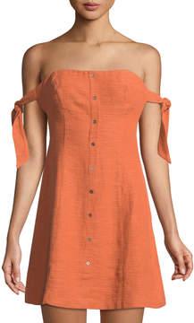 Astr Araceli Textured Off-The-Shoulder Dress