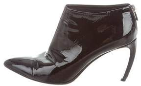 Walter Steiger Patent Leather Pointed-Toe Boots