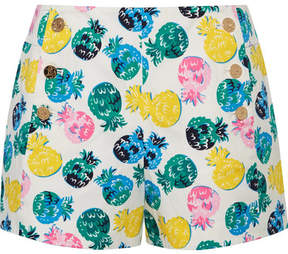 Draper James Printed Cotton-blend Shorts - White