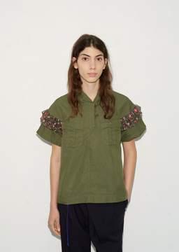Kolor Frill Sleeve Blouse Khaki Size: 1